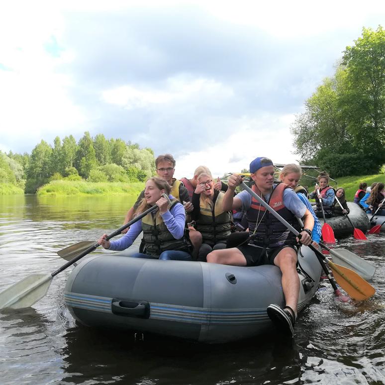 Sigulda - Murjāņi gumijas laivas